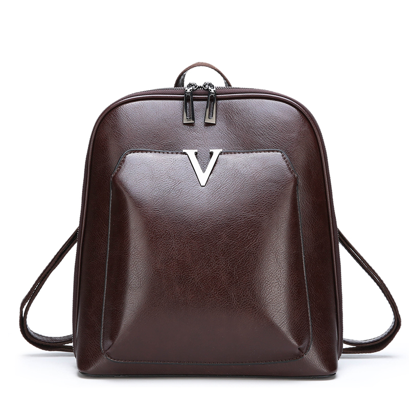Luxury Women Vintage Backpack Female Brand Leather Women's Backpack Large Capacity School Bag For Girl Leisure Shoulder Bag