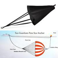 All Size Heavy Duty PVC Sea Anchor Trolling Drift Sock Sea Brake Drogue 17 30FT Power Sail Inflatable Boats Yacht Kayak Anchor