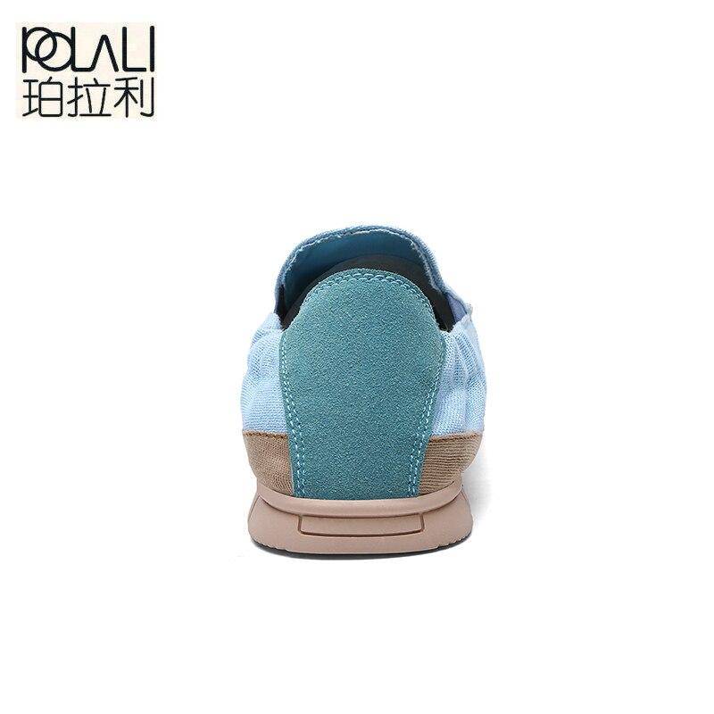 Chaussures Mode Espadrilles D'été pu Toile Appartements Mocassins bleu Ciel Sur Respirants Zapatos Décontractées Polali Slip Hommes Hombre Beige De EpwIqwxYf