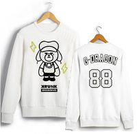 Bigbang Kpop Clothes GD Peripheral Round Neck Korean Couple Loose YG Winnie Autumn Men Cashmere Sweatshirts
