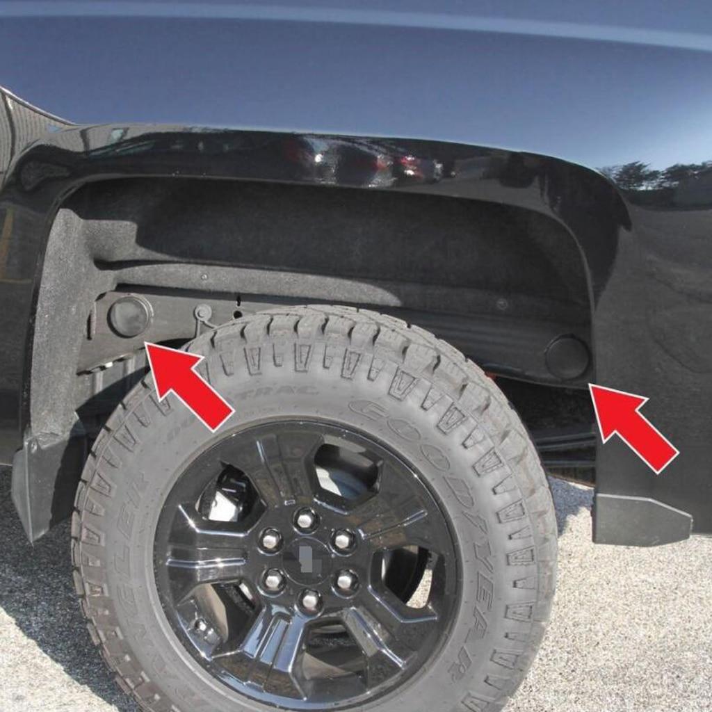 4 adet arka tekerlek kuyusu çerçeve fişi kapakları 99-17 Chevy Silverado GMC Sierra