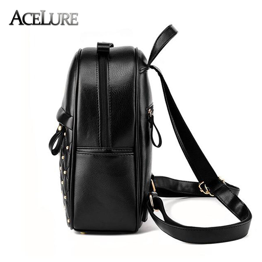 Acelure Women Backpack Hot Sale Fashion Causal Bags High Quality Bead Female Shoulder Bag Pu Leather Backpacks For Girls Mochila #3