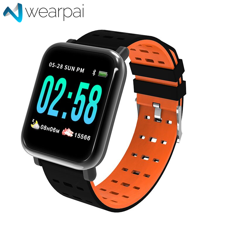 Wearpai A6 Smart Bracelet TFT full color screen fitness tracker Step Counter Activity Monitor smart watch for android ip67 in Smart Watches from Consumer Electronics