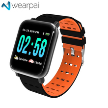 Купить с кэшбэком Wearpai A6 Smart Bracelet TFT full color screen fitness tracker Step Counter Activity Monitor smart watch for android ip67