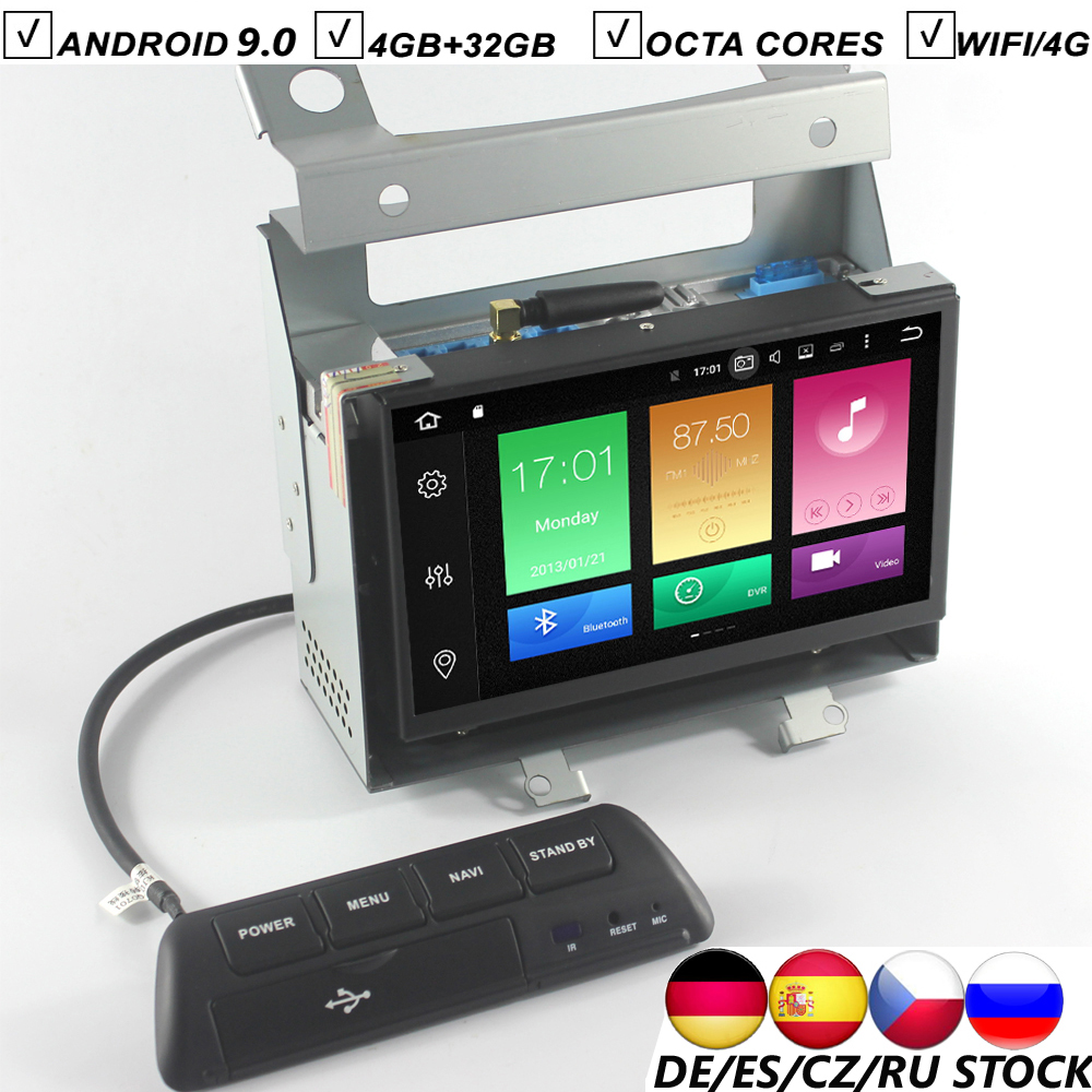 Car DVD GPS Player Octa Core 7 Inch Android 9.0 GPS Navigation for Land Rover Freelander 2 DAB 4GB RAM+32GB ROM+16G Map Wifi USB