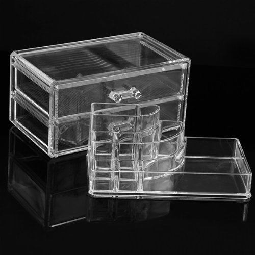 NHBR Cosmetics Organizer Clear Acrylic Makeup Organizer Holder Multiple Display