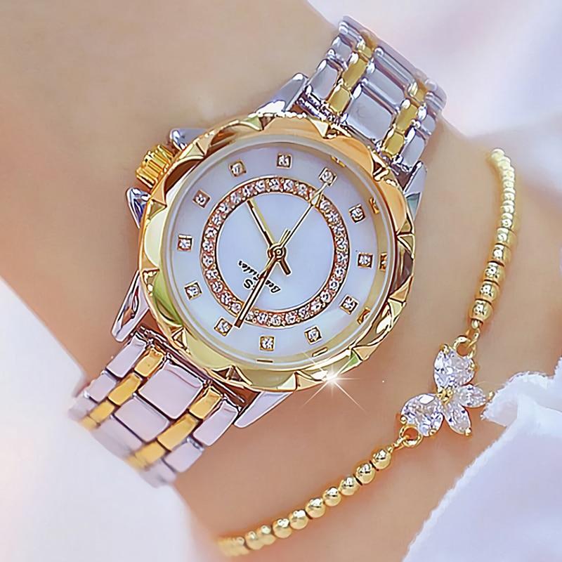Women Watch With Bracelet Luxury Brand Casual Diamond Ladies Wrist Watches Gold Silver Wristwatch For Women Relogio Feminino