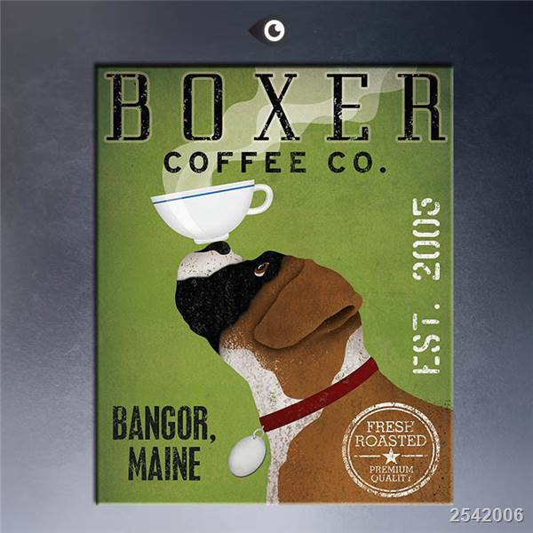 Boxer Coffee Co By Ryan Fowler Giclee Poster Print On Canvas For Wall Decoration gift Landscape Rectangle Canvas Printings
