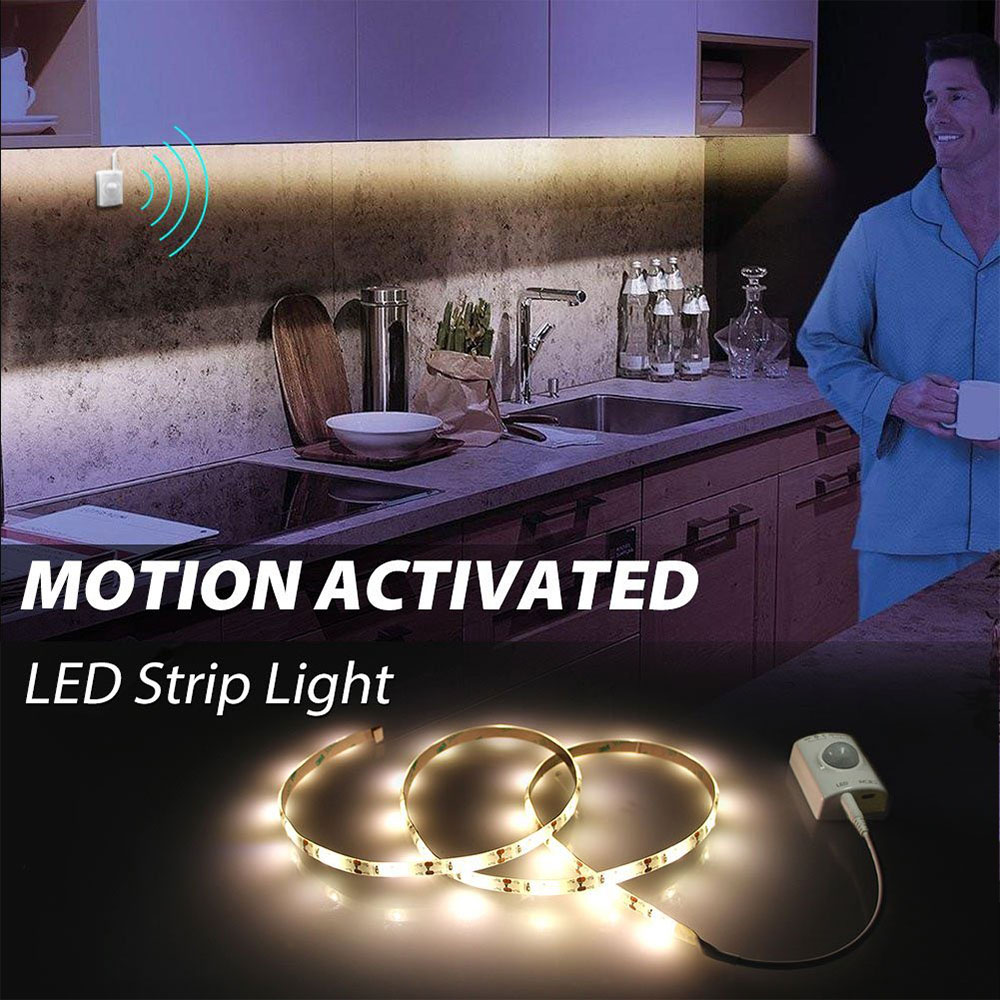 USB Rechargeable Motion Sensor LED Strip,Dual Mode Motion Activated Bed Light Automatic Shut Off Timer for Kitchen Stair Cabinet for dual motion activated bed light flexible led strip sensor night with automatic shut off timer promotion