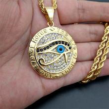 Мужское и женское египетское Ожерелье Подвеска «глаз Хора» цепочка
