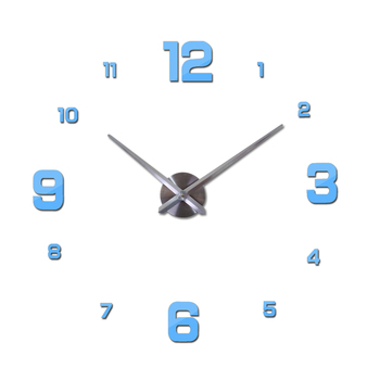 New Wall Clock Clocks Watch Horloge Murale Diy 3d Acrylic Mirror sticker Large Home Quartz Circular Needle Modern Free Shipping 14