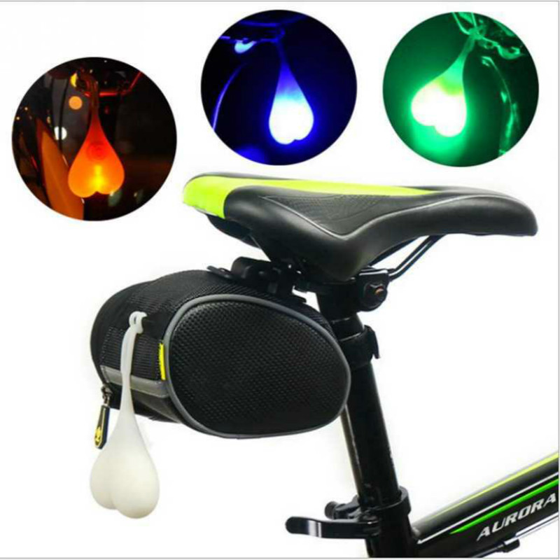 Drop Shipping Bike Light Heart Shape Cycling Balls Tail Waterproof Silicone Bicycle Taillight Rear Lights Night Warning Led