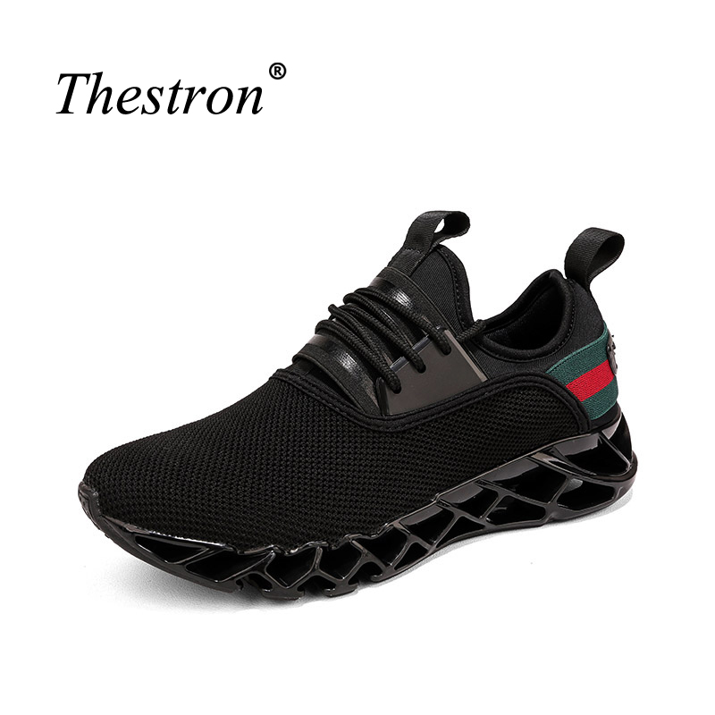 Running Shoes Men Spring Summer Working Shoes Cushioning Gym Sneakers Lace Up Outdoor Mesh Breathable Sport Trainers