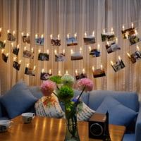 5M 20 LED Clip String Lights Fashion Photos Battery LED Decoration Fairy Light Christmas New Year