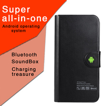 Bluetooth speaker charging treasure android TV box 5000mah power bank with bluetooth speaker with kodi 17.0 android 6.0 tv box