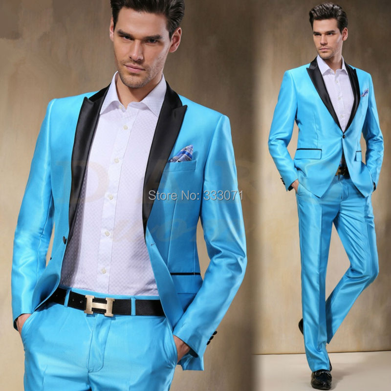 Popular Sky Blue Prom Suit-Buy Cheap Sky Blue Prom Suit lots from ...