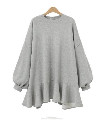 2018 autunno e inverno nuovo di modo del manicotto del blocco casuale lunga del maglione delle donne