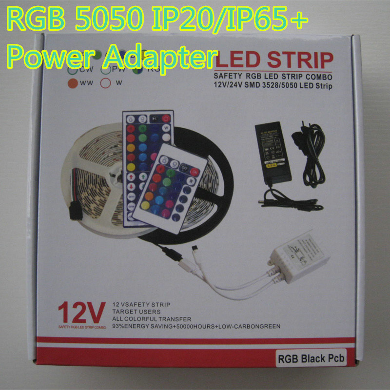 5M RGB Led Strip Light 5050 Non-waterproof or waterproof  300LED Flexible Lighting String Ribbon Tape Lamp Home Decoration Lamp hot sale 5m 300leds waterproof rgb led strip light 3528 5050 dc12v 60leds m fiexble light led ribbon tape home decoration lamp