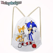 Sonic the Hedgehog Game Printed School Cartoon Small Bags for Boys Schoolbags for Teens Kids Shoe Pocket String Shoulder Bag