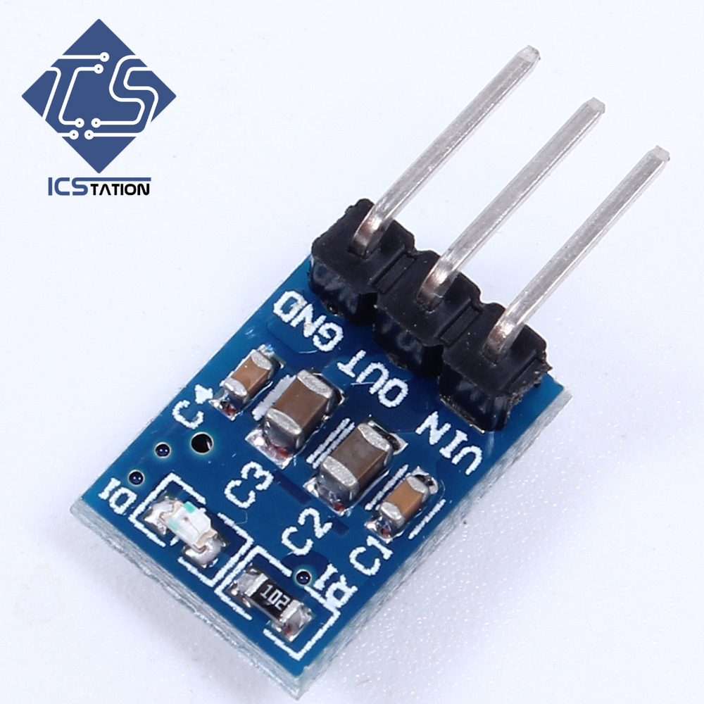 10pcs AMS1117-3.3 DC Voltage Regulator Buck Converter Step Down Power Supply Module 4.75V-12V to 3.3V 800mA LDO 3pin dc dc 100w power converter voltage regulator step down 9 35v to 5v 20a buck power supply module adapter driver module