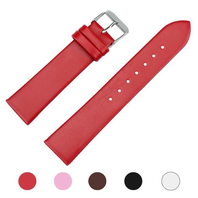 Watch Accessories Fashion Watchband 20mm Women Leather Watch Strap Band For Women Men Watch Watches Watchbands female belt