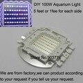 1pcs 100w 50*2w Aquarium Led Bulb Light Minimalistic Multichip Diy Buid Spectrum for Growth,100w aquarum led grow light