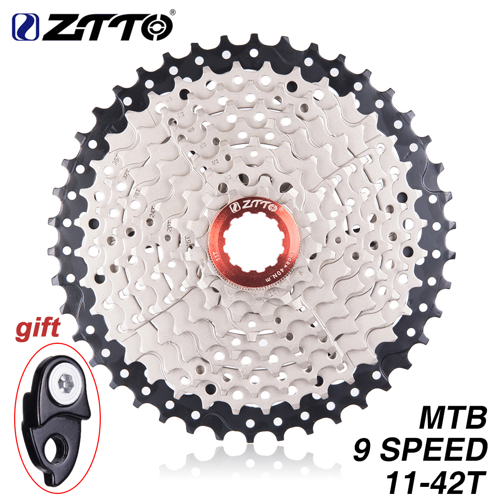 ZTTO MTB Bicycle Freewheel 9 Speed 11- 42T Cassette Freewheel Mountain Bike Bicycle Parts WIDE RATIO Compatible for M430 M4000ZTTO MTB Bicycle Freewheel 9 Speed 11- 42T Cassette Freewheel Mountain Bike Bicycle Parts WIDE RATIO Compatible for M430 M4000