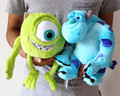 Envío gratis 2 unids/lote 25 cm Monsters universidad Mike Wazowski + James p. Sullivan sulley felpa juguetes de peluche muñeca