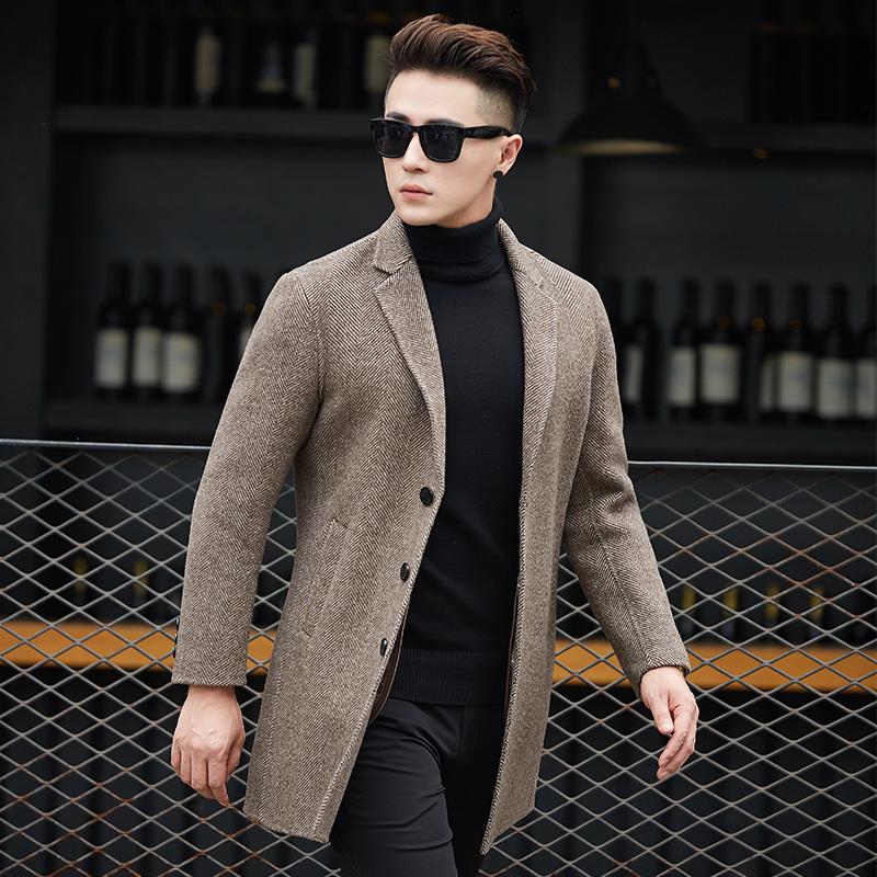 Unique Pardessus De Poitrine Caban Manteau Vestes Longue Fit Abrigo Hommes Tranchée Slim 2 Homme 1 Laine Hombre Cachemire 2018 D'hiver OnAw6dwvx