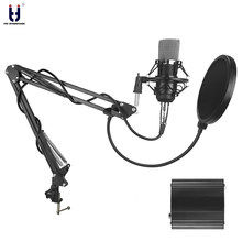 Ituf New Professional Condenser Microphone for computer BM 700 Audio Studio Vocal Recording Mic KTV Karaoke + Microphone stand(China)