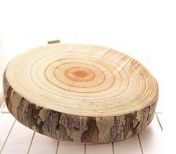 Creative Plush Super Simulation Wood Throw Pillow Stump Cushions