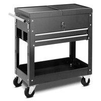 Rolling Mechanics Tool Cart Slide Top Utility Storage Cabinet Organizer 2 Drawer TL32539
