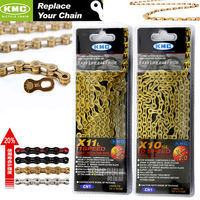 KMC Road Mountain Bicycle Chain Super Light X8 Speed 9 10 11 Speed Bicycle Parts Cycling