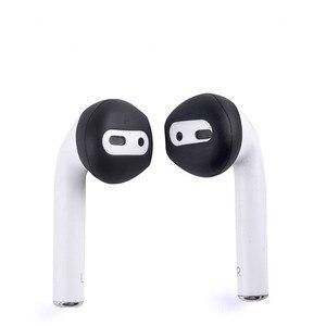 Image 5 - Auriculares antideslizantes ultrafinos de silicona, funda de repuesto mejorada para auriculares Airpods de Apple, 4 pares