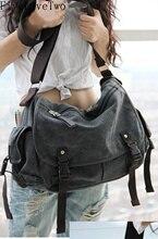 FiveLoveTwo Big Vintage Canvas Messenger Totebag Book Laptop Shoulder School Ladys Women Handbag Men Bag sac