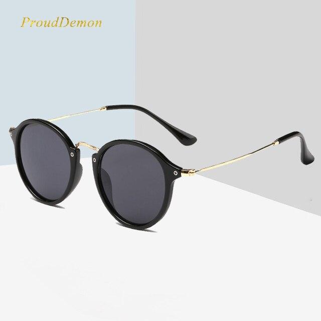 87a7ae0dd0 2019 nueva llegada ronda gafas De sol Retro De las mujeres De los hombres,  diseñador De marca, gafas De sol Vintage recubrimiento espejo gafas De sol  De ...