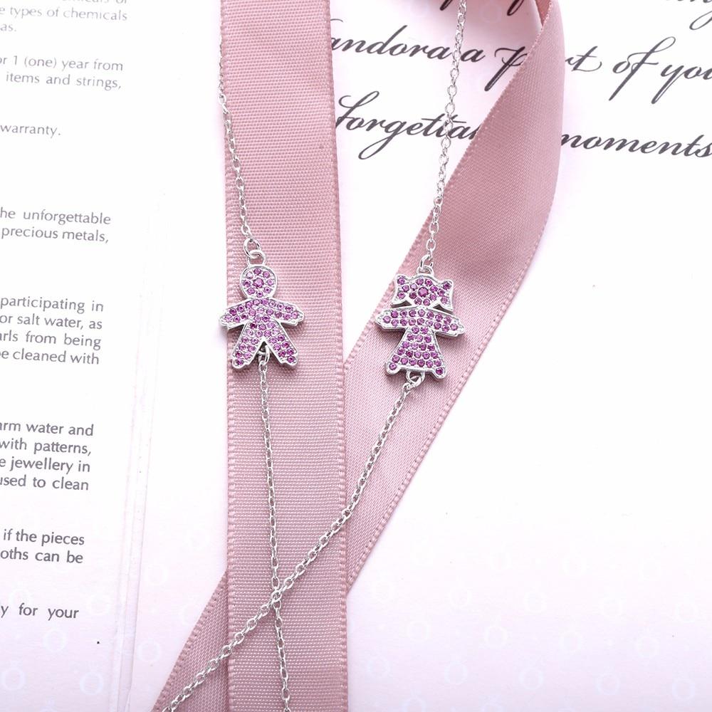 Moonmory Russian Boy Girl Bracelet Baby Figure Shaped S925 Sterling ...