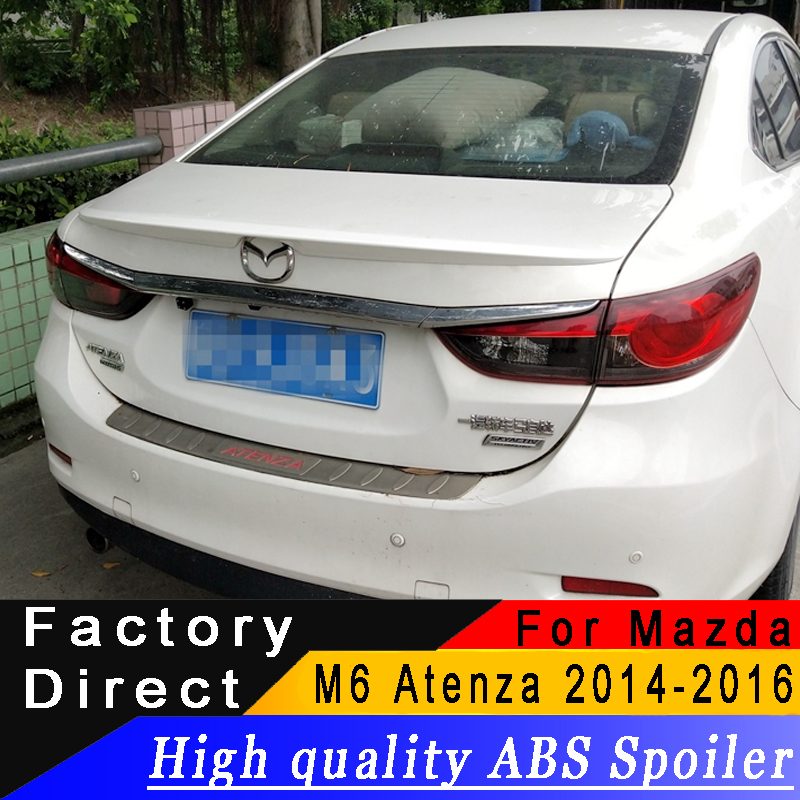 For <font><b>Mazda</b></font> <font><b>6</b></font> M6 Atenza <font><b>2014</b></font> 2015 2016 year <font><b>spoiler</b></font> High quality ABS material Rear wing <font><b>spoiler</b></font> Can made Primer or any color image