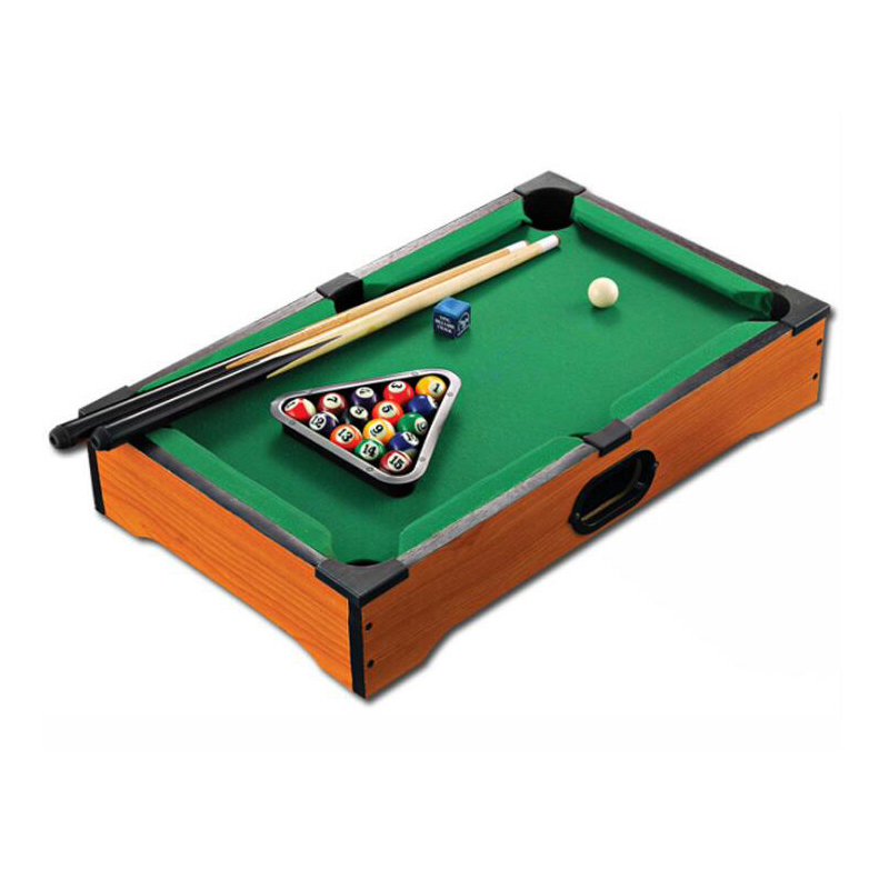 2017 New Childrens Billiard Table Wooden Toys mini billiard table with cues triangle and mini pool ball Kids Gift