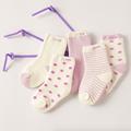 Cinco pares de los niños del otoño y la temporada de invierno más gruesa de algodón calcetines de terry de los niños engrosamiento de algodón calcetines cinco pares