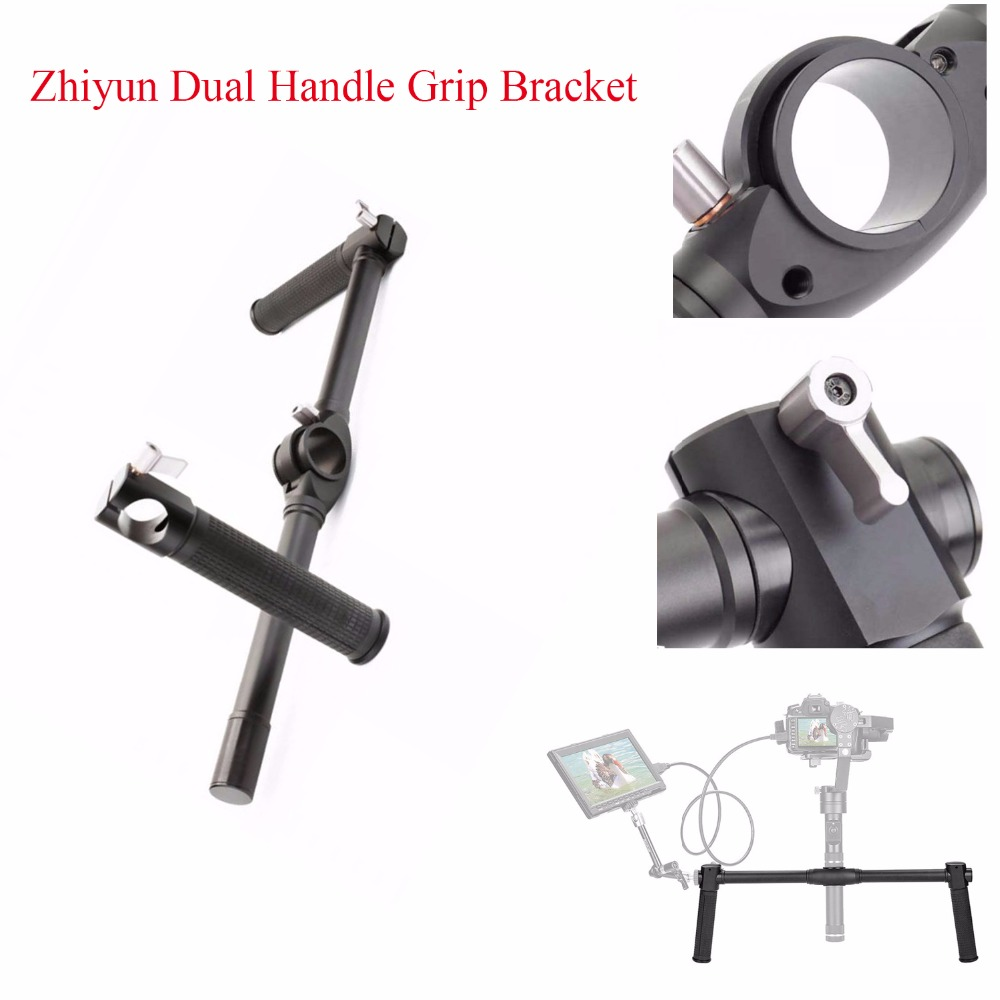 Zhiyun Dual Handle Grip Bracket for Zhiyun Crane 2 3-Axis Stabilizer Gimbal,Handheld Handlebar for Zhiyun 3-Axis Gimbal beholder ds1 3 axis brushless handheld gimbal stabilizer 32 bit controller with dual imu sensors d2 handle grip cable for dslrs