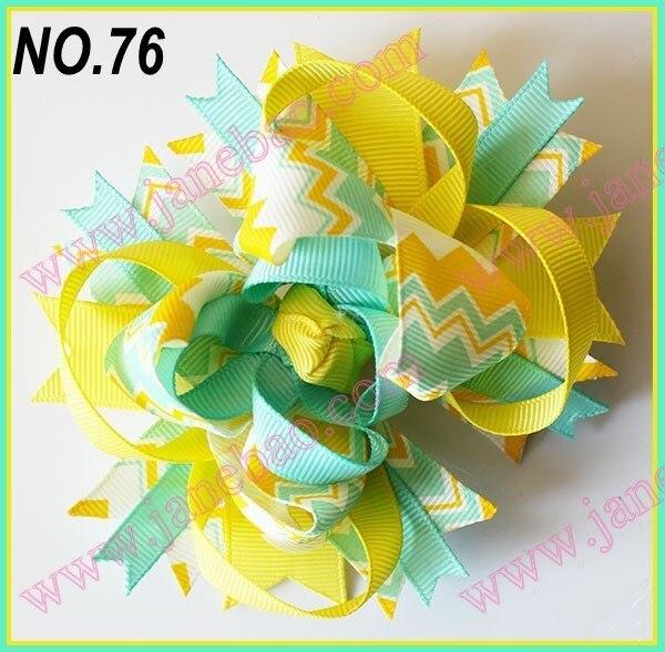 free shipping  2017 Newest  30pcs 4.5'' chevron hair bows boutique hair clips Fashion hair bows
