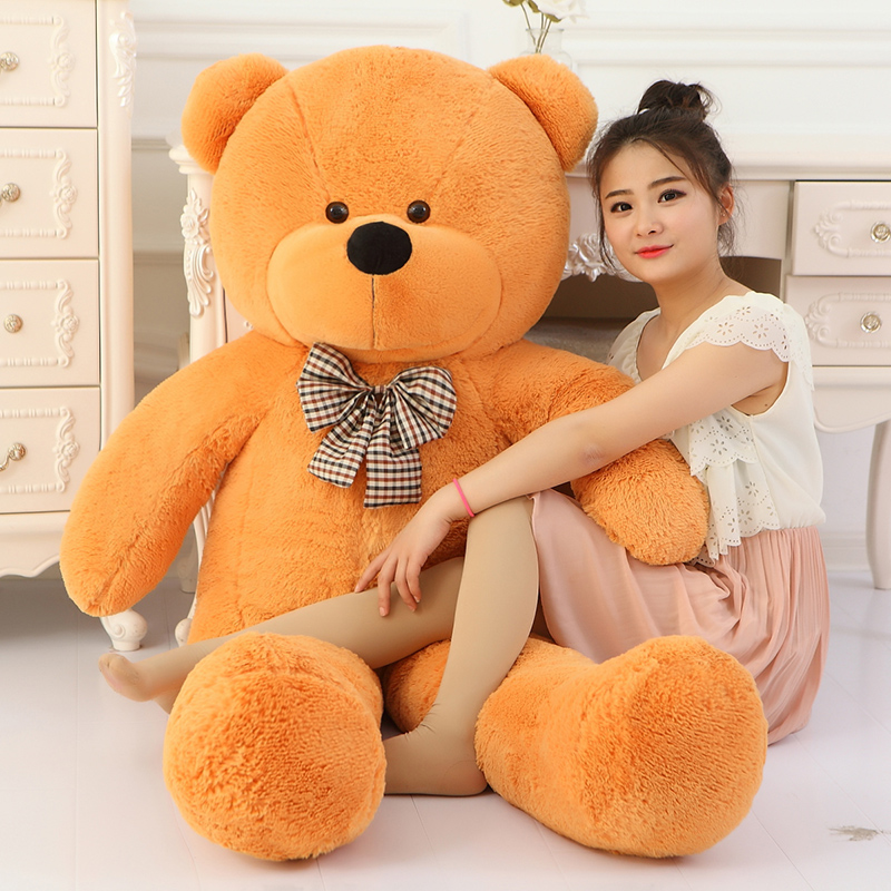 Big Sale 160cm Giant teddy bear soft toy brown huge large big stuffed toys plush life size kid baby dolls valentine gift in Stuffed Plush Animals from Toys Hobbies