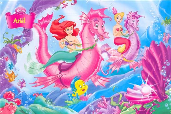 Custom Canvas Art The Little Mermaid Poster Little Mermaid Princess Wall  Stickers Fairy Tale Wallpaper Mural