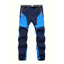Winter Men Warm Softshell Fleece Pants Skiing Snowboard Outdoor Sport Hiking Trousers Grey Camping Climbing Breath Snow Pants