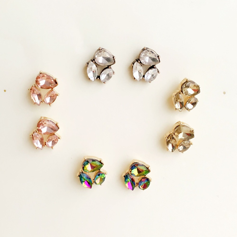 SG es20901 TRACYSGER high quality multi colour crystal hot sale smart earrings