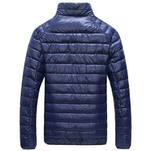 Image 4 - Veste coupe vent ultraléger et décontracté pour homme, manteau style coupe vent et parka, vêtement à chaud, portable, jacket dextérieur, taille 5XL — 6XL, collection automne et hiver, 2020