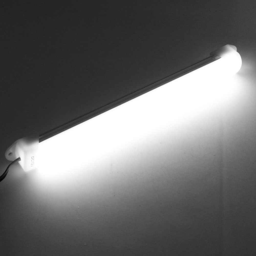 جديد جودة عالية 1 قطعة 12V 5630 12LED سيارة LED SMD الداخلية ضوء بار أنبوب مصباح شريط التنغستن قارب الأبيض