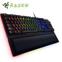 Razer Huntsman Elite Wired Mechanical Gaming Keyboard RGB Backlit Ergonomic Wrist Rest Tactile Keyboard Gaming For PC/Laptop