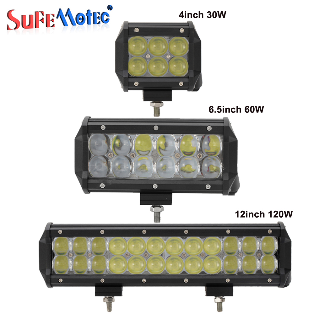 4'' 30W 60W 12inch 120W 4D LED Light Bar Car Fog Lamp For Off Road Trucks 4X4 4WD Boat Combo Driving Work Lights Automoblie 12V